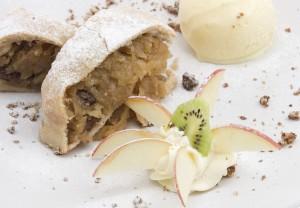 Strudel de manzana en Restaurant Pueblo Suizo