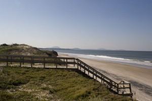 Pueblo Suizo, bajada a la playa en Uruguay